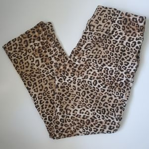 Chico's High waisted pull on Leopard Pant